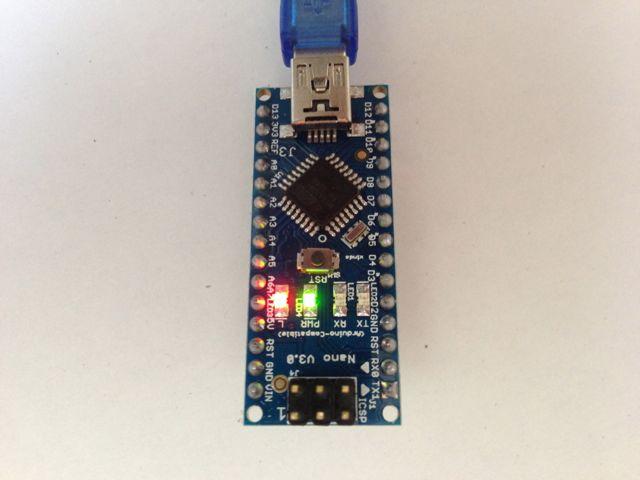 Arduino von oben in Aktion