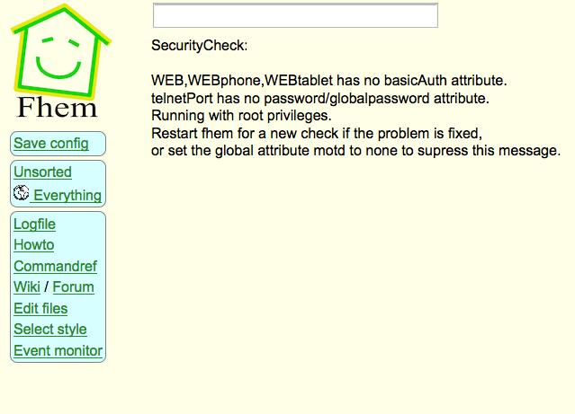 Fhem Startbildschirm auf WR-703N mit OpenWrt