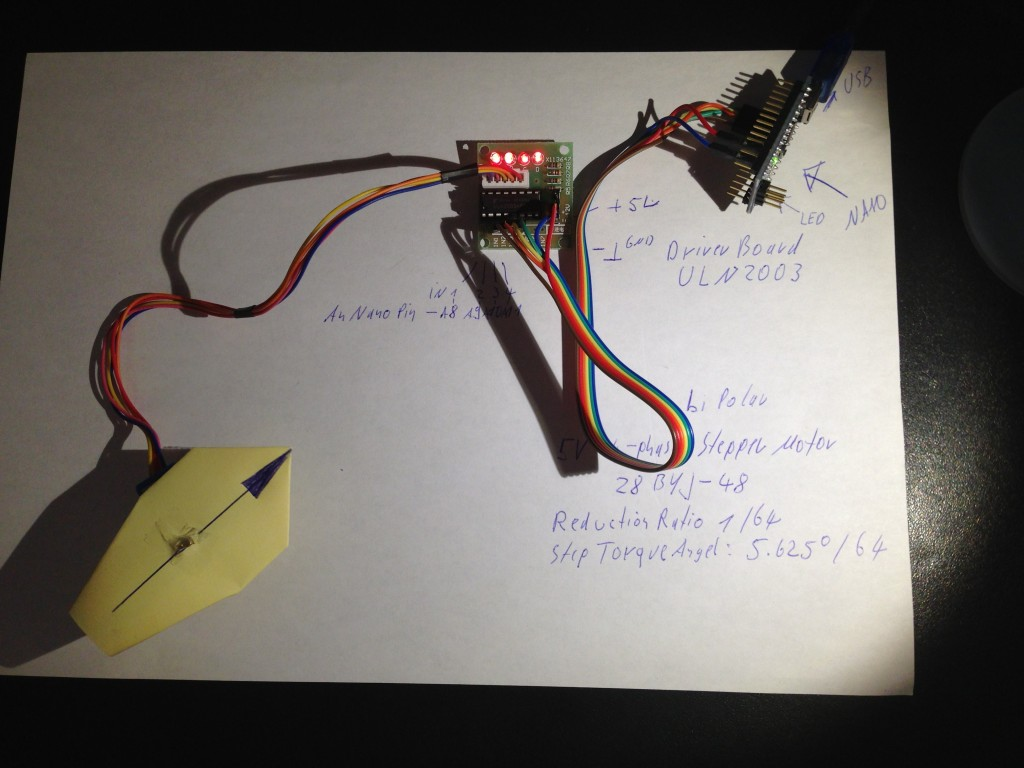 4-Phasen-Stepper-Motor Ansteuerung mit dem Microcontroller Arduino NANO