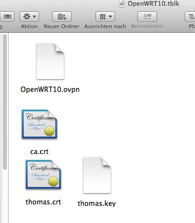 Inhalte de OpenWRT10 Verzeichnis für Tunnelblick