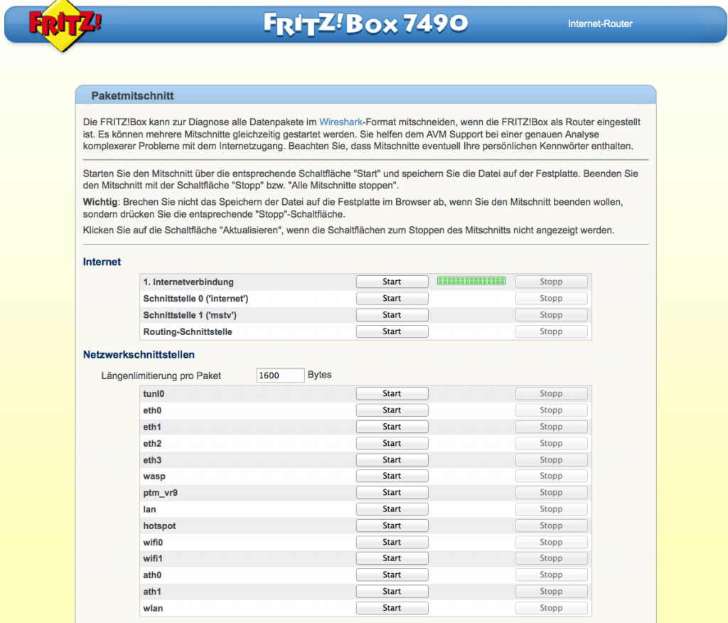 Capture Fritz Box