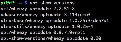 apt-show-versions