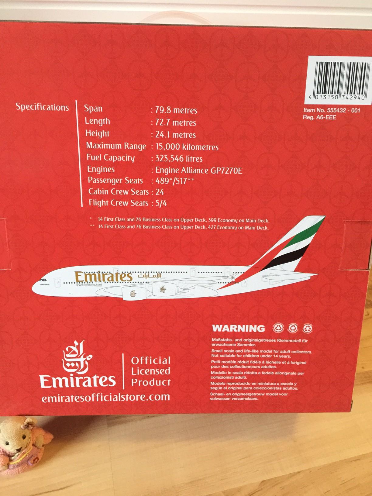 A380 Daten