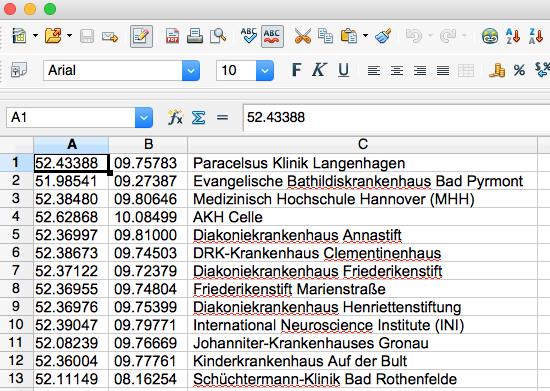 Excel CSV Liste