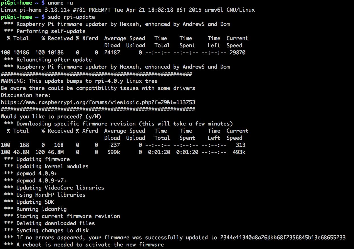 firmware update raspberry pi
