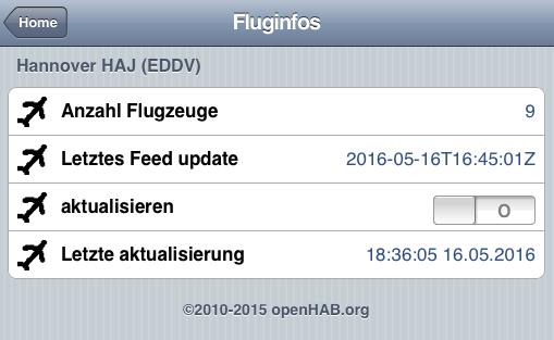openhab Fluginfos