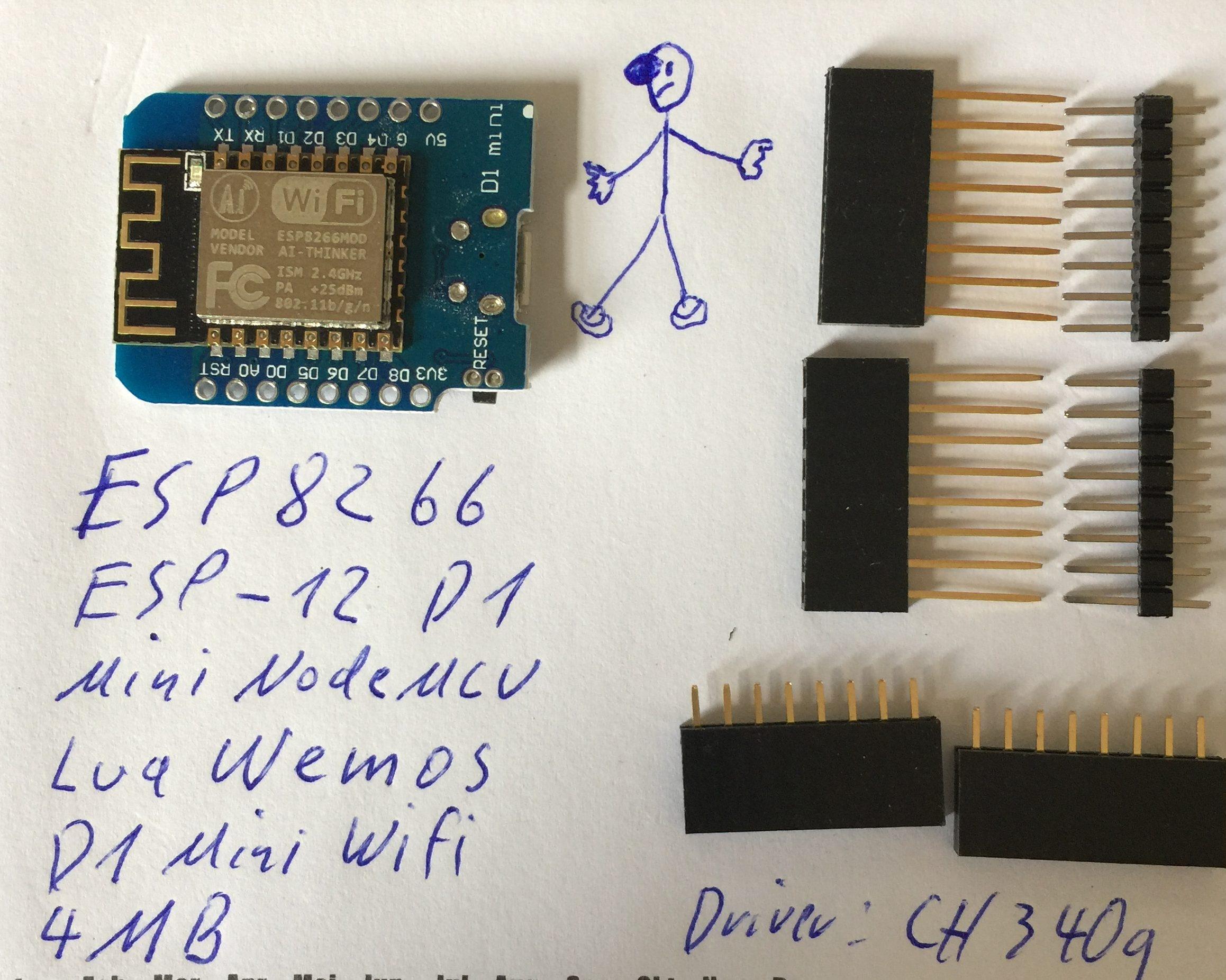Wemo D1 ESP8266 Vorderseite