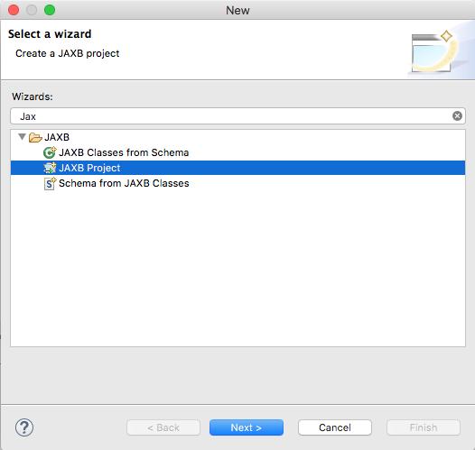 Wie können mit Eclipse Oxygen 1A aus XSD-Dateien mit JAXB